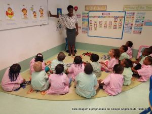 Aulas de Língua Inglesa no pré-escolar