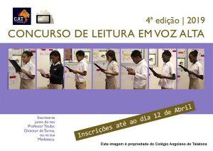 Lançamento da 4ª Edição do Concurso de Leitura em Voz Alta