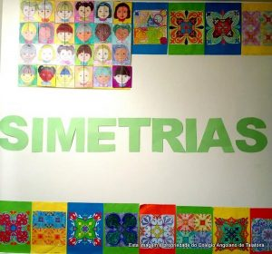 Os alunos da turma 4.ªD, realizaram alguns trabalhos de Simetrias