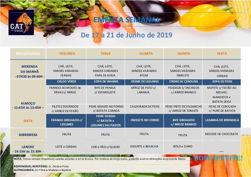 ementa geral 17 a 21 junho