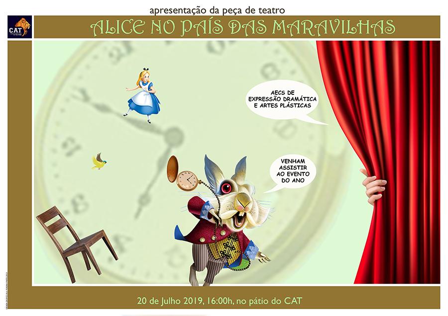 """Apresentação da peça de teatro """"Alice no País das Maravilhas"""" 🗓 🗺"""