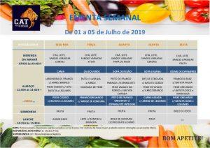 Ementa geral de 01 a 05 Julho