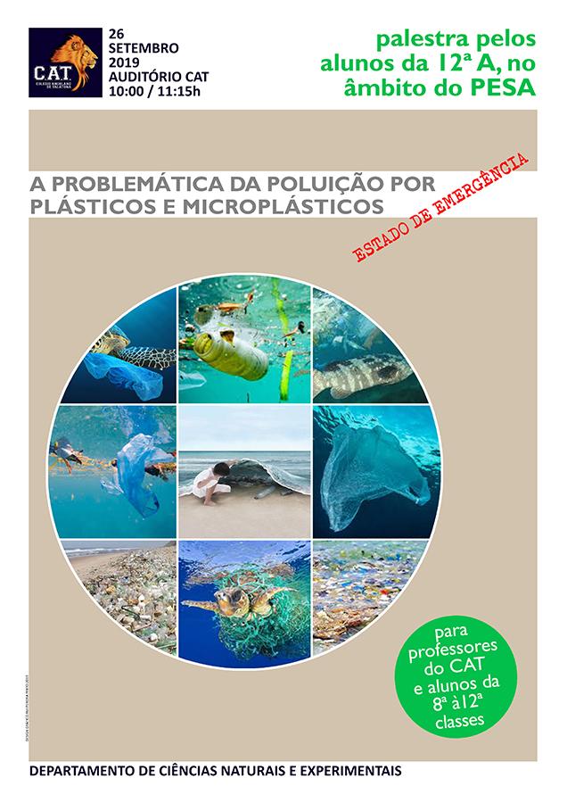 Palestra sobre a A Problemática da Poluição por Plásticos e Microplásticos